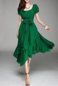 Green here - dress