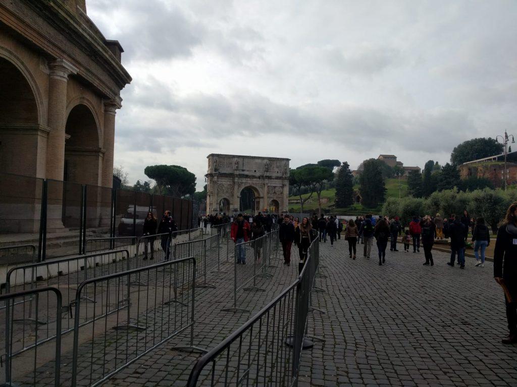No line outside the Colosseum