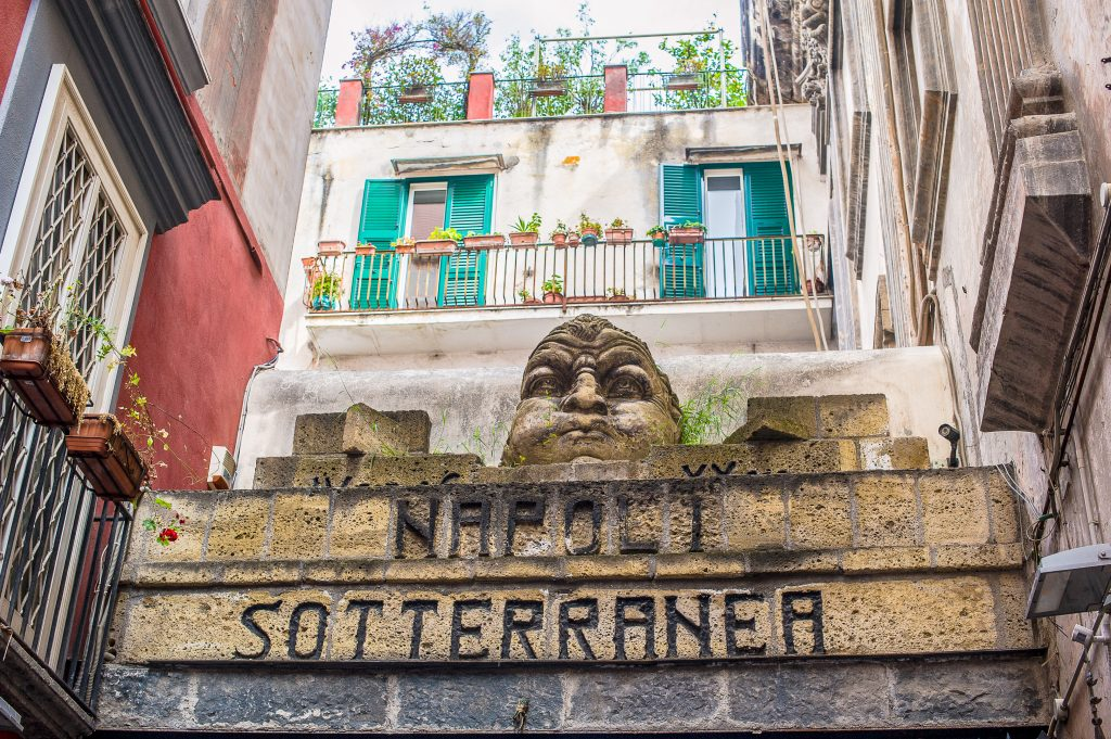 Entrance to the Naples Underground tour