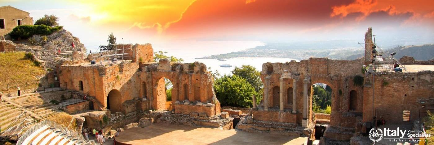 Glorious Skies over Taormina, Sicily
