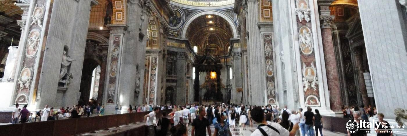 Inside St. Peter's Basilica - Vatican City Rome