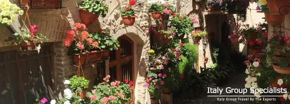 Beautiful Flower Lined Streets of Spello