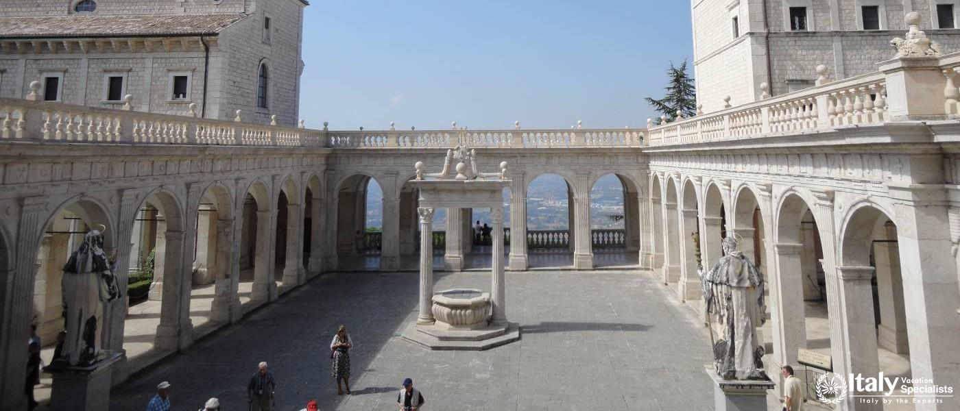 Inside Monte Cassino Rome, Italy