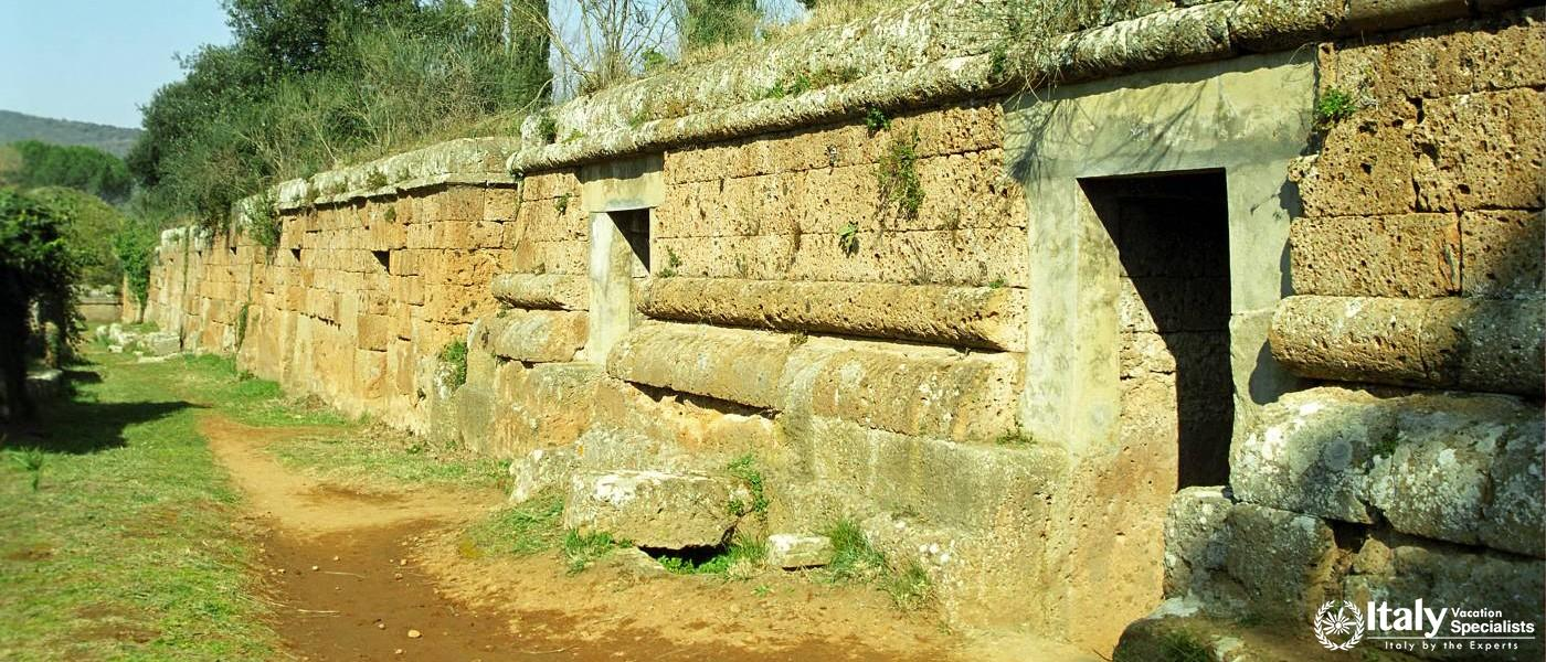 Etruscan Tombs at Cevetri, Italy