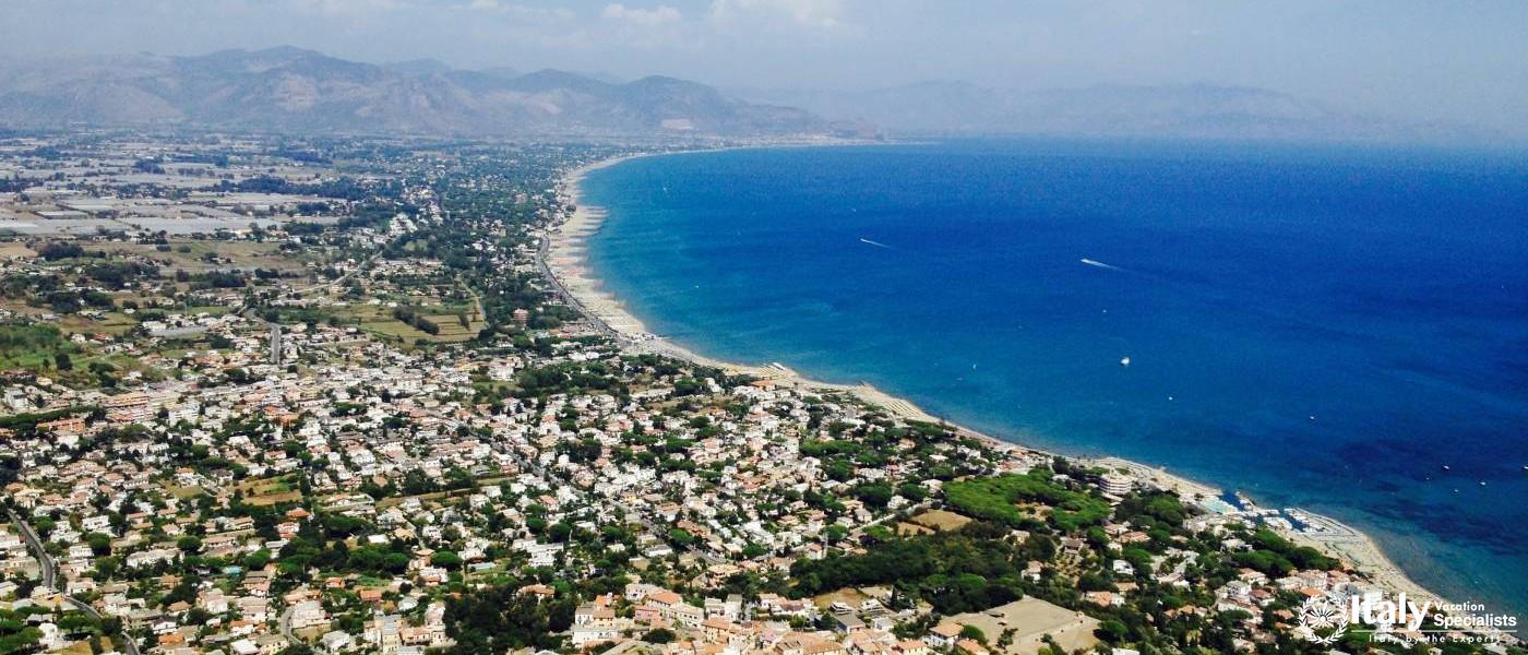 View over beaches at San Felice Circeo