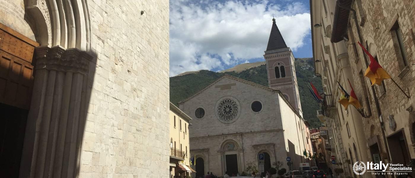 Main Square Gualdo Tadino, Umbria