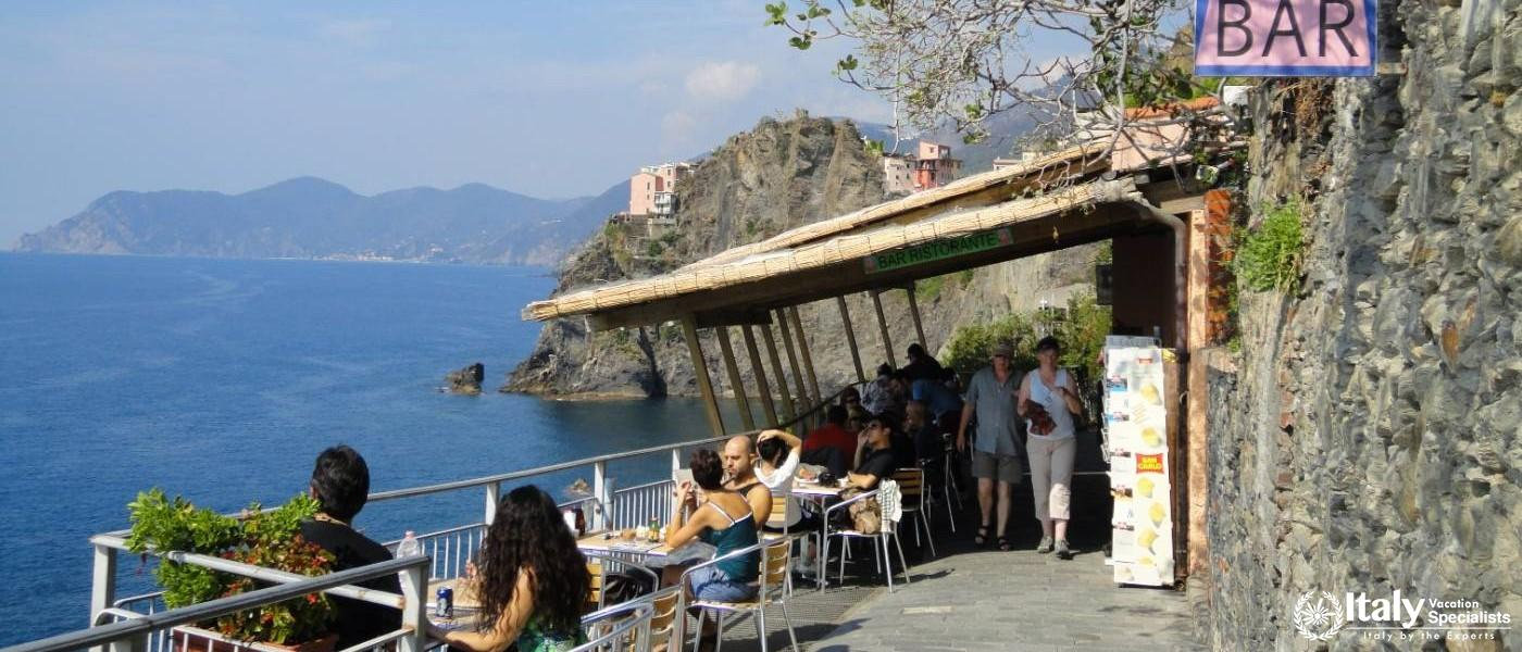 Bar along the Cinque Terre walking Trails -