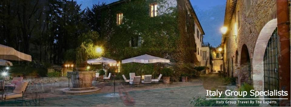 Town Centre of Monteriggioni, Tuscany, Italy