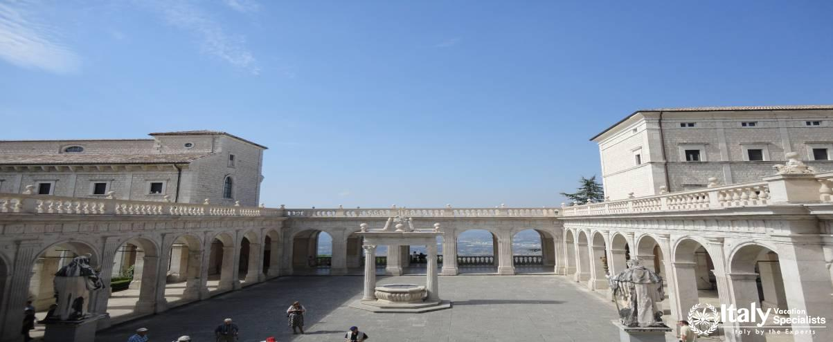 Outside View within the sanctuary -  Monte Cassino