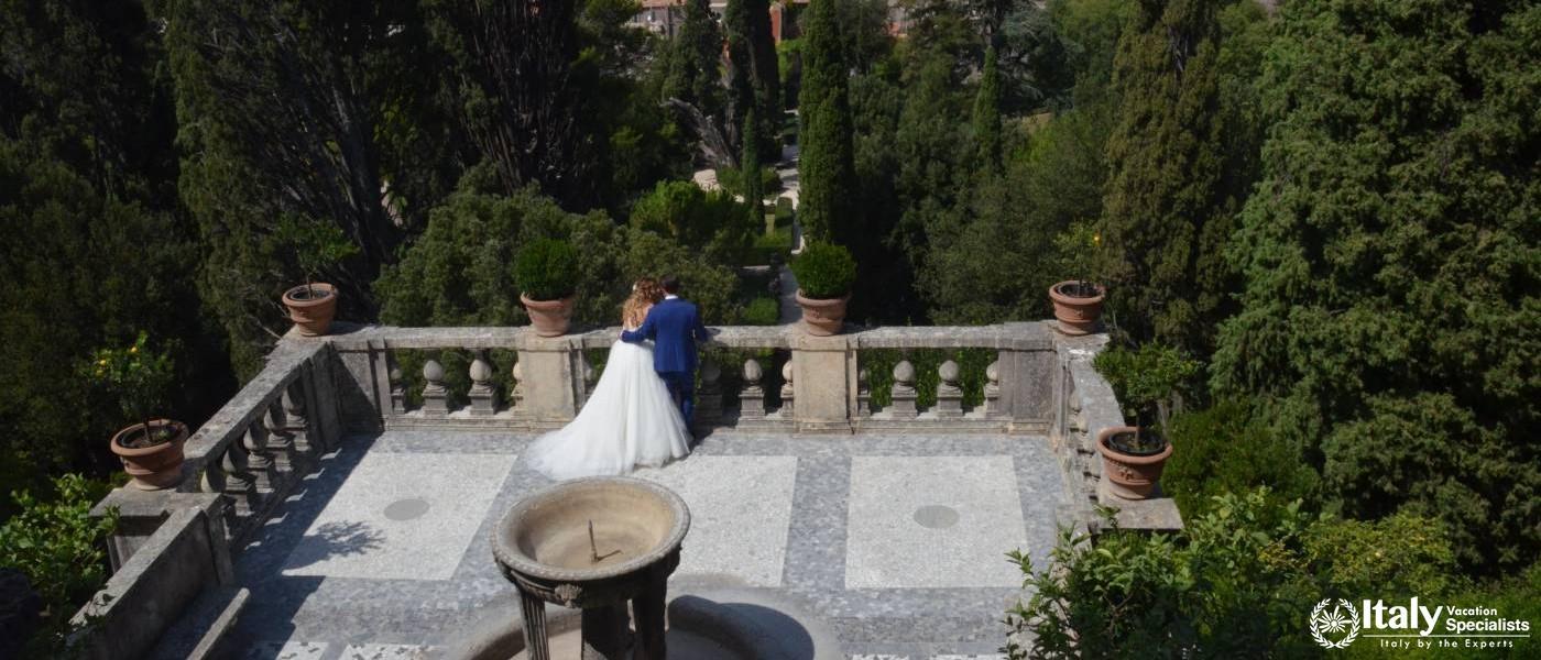 Inside Tivoli Gardens Rome