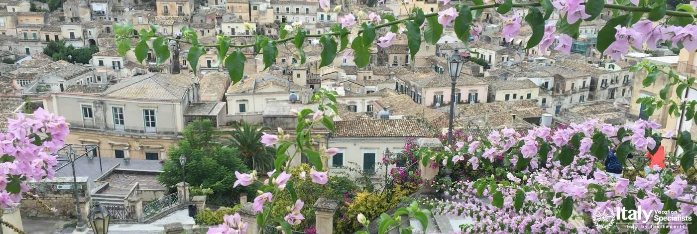A view over beautiful Modica, Sicily - late September