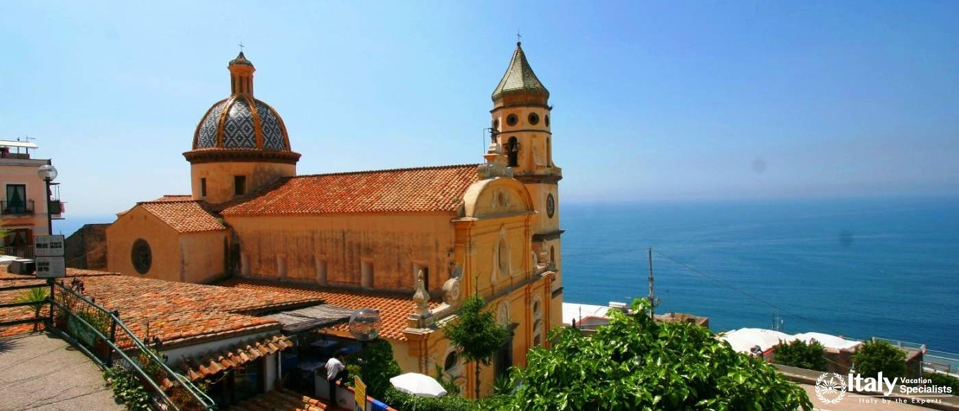 Praiano Cathedral - Amalfi Coast Italy