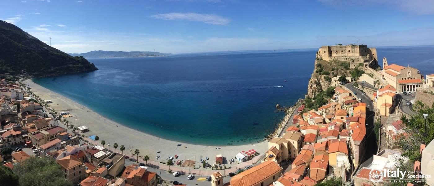View over Scilla, Calabria, Italy