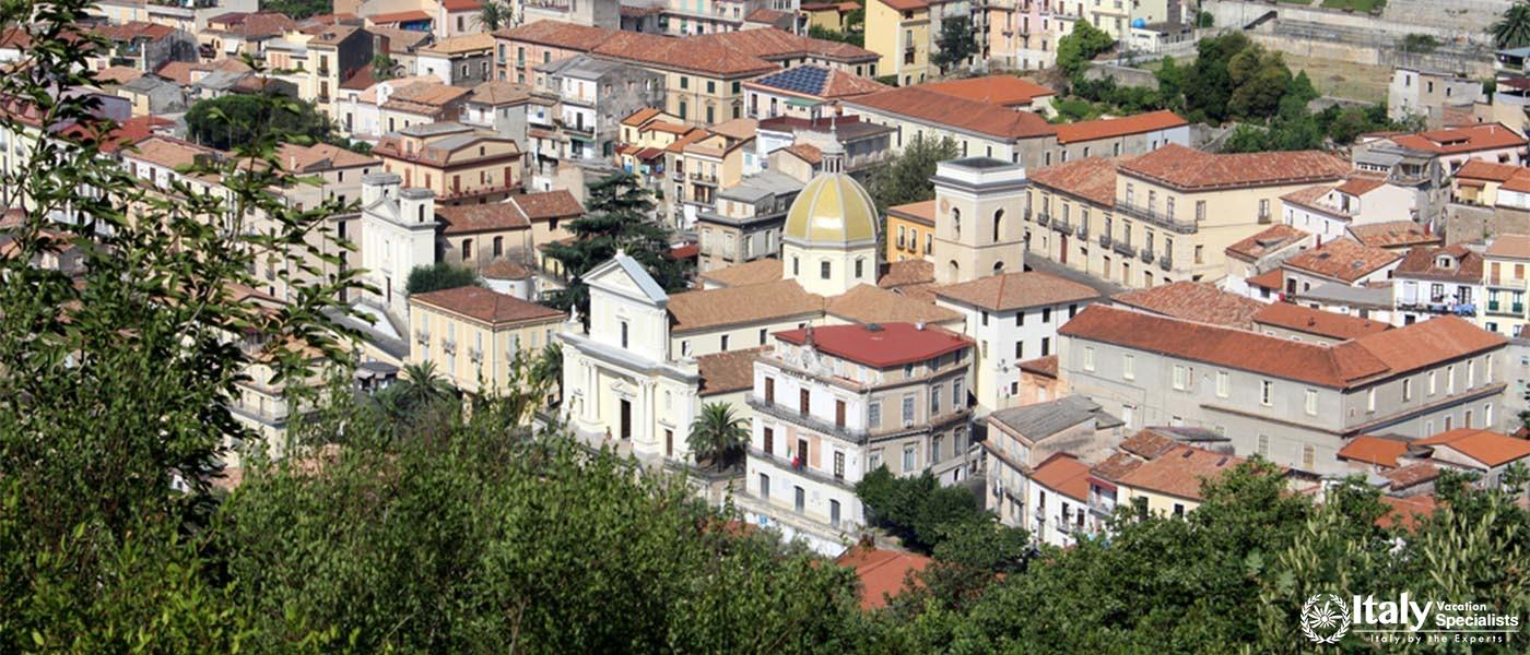 City and Cathedral, South Italy, Lamezia Terme, Calabria