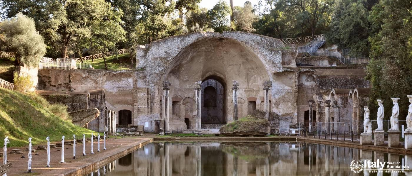 Entrance to Hadrian's Villa at the Villa Adriana Tivoli