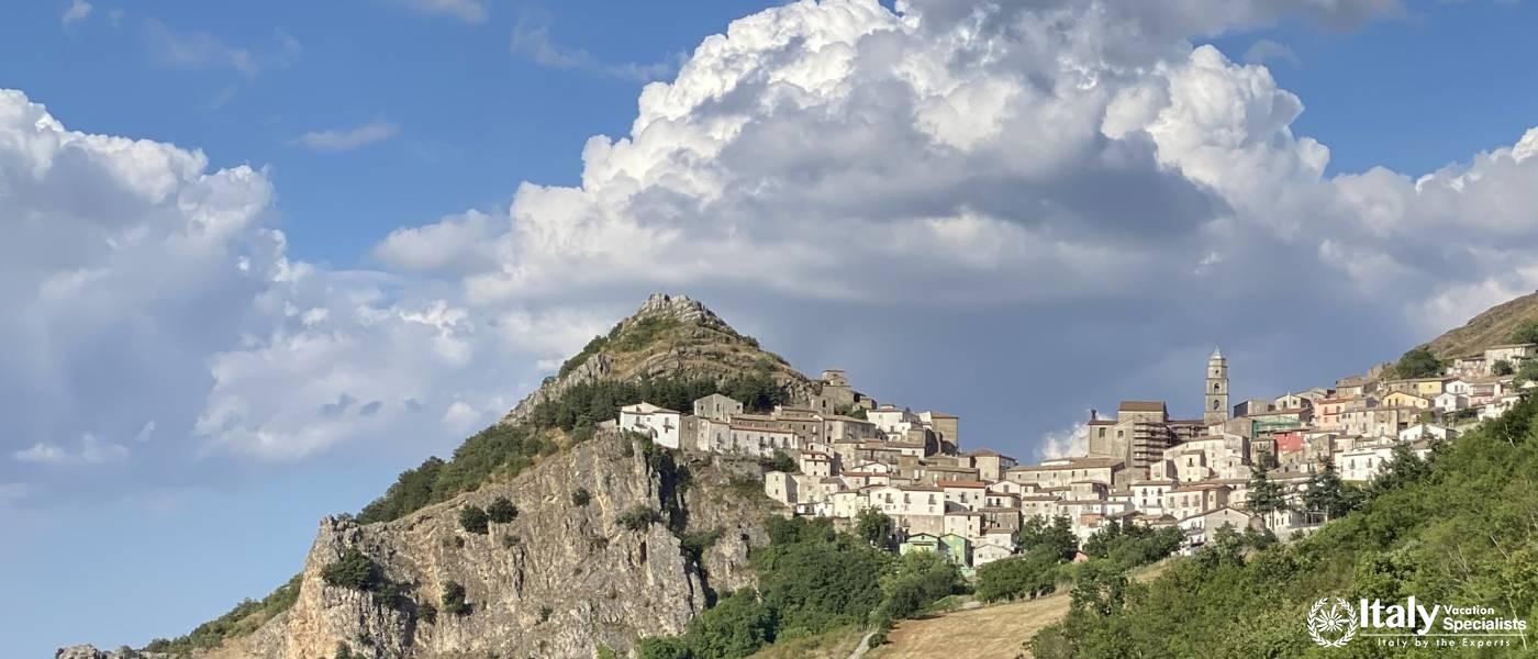 San Fele, Basilicata Waterfalls and Town