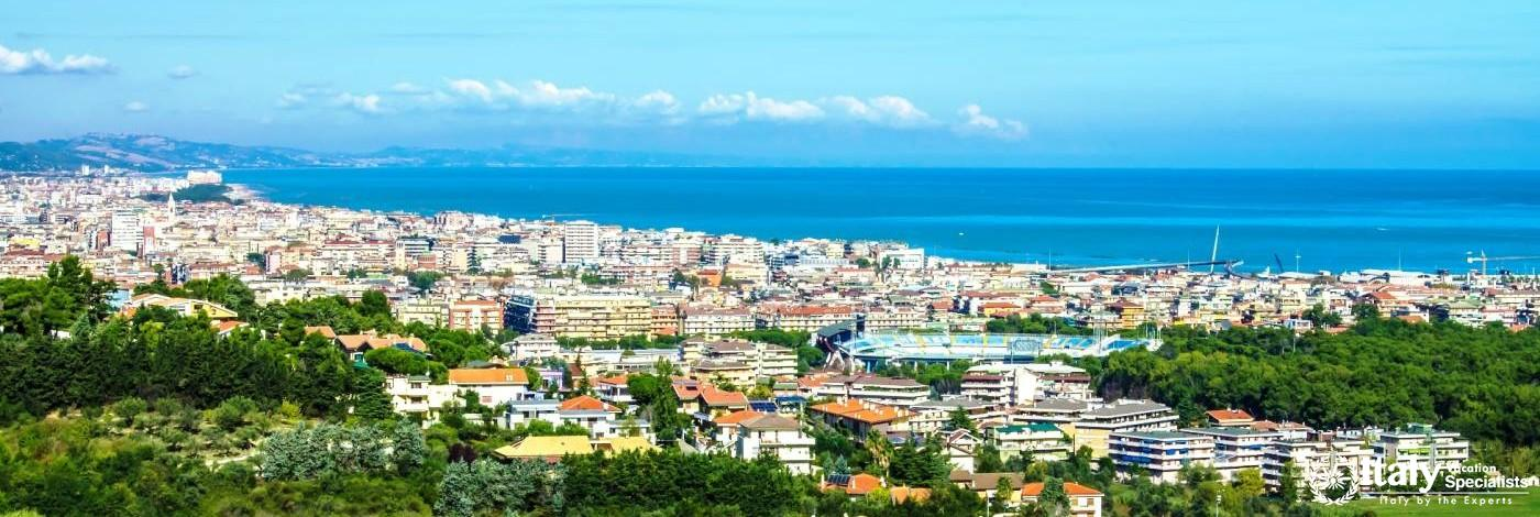 Aerial View over Pescara, Italy