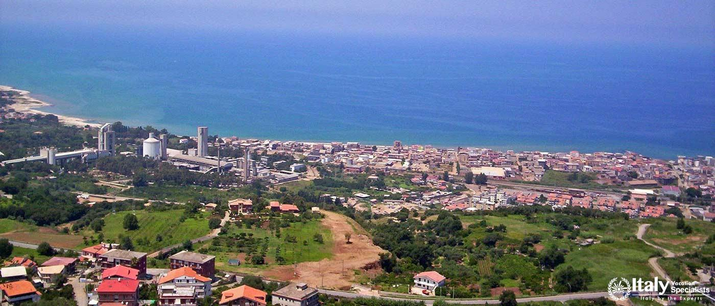 Panorama view of Vibo Valentia, Calabria region, Italy