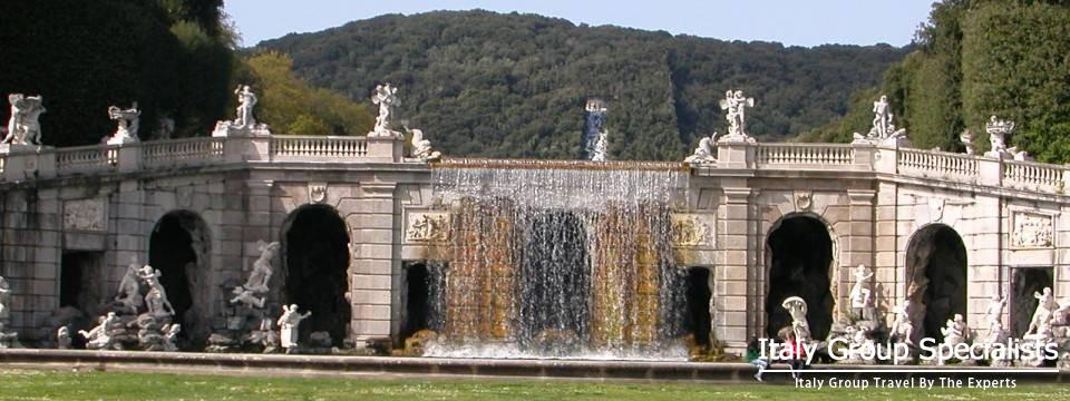 Napoleon's Royal Gardens at Caserta, Campania Region in Southern Italy