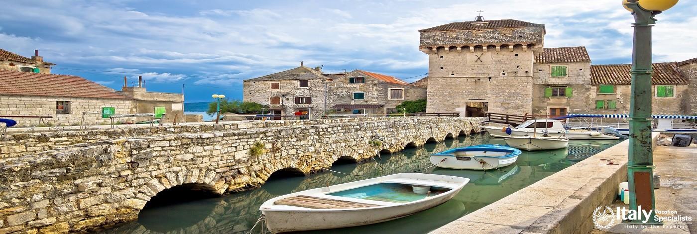 Kastel Gomilica Historic Island Near Split, Dalmatia, Croatia