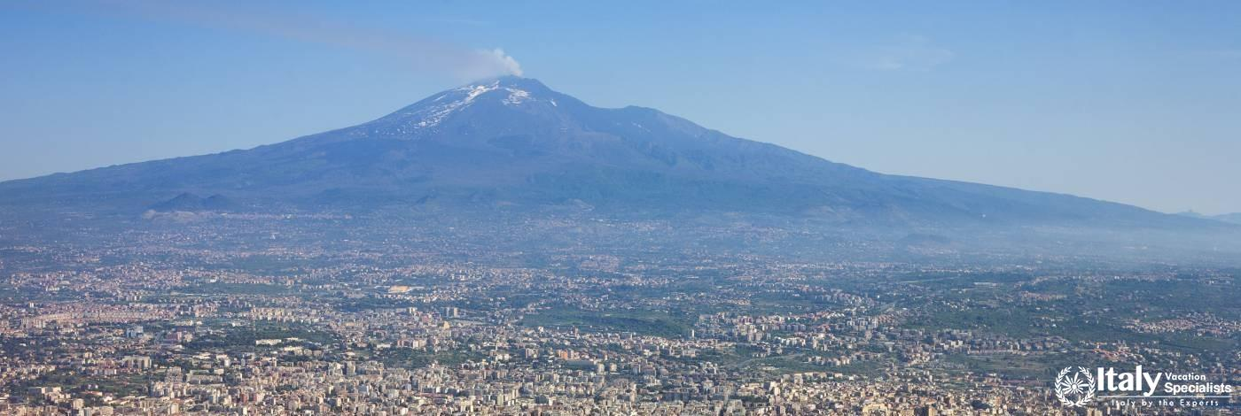 Mt. Etna Rising, Over Catania, Sicily