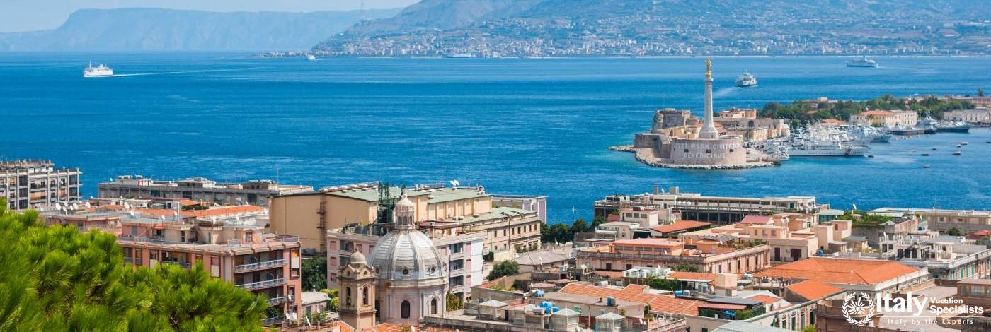 Messina, Sicily and Mainland Italy in the distance