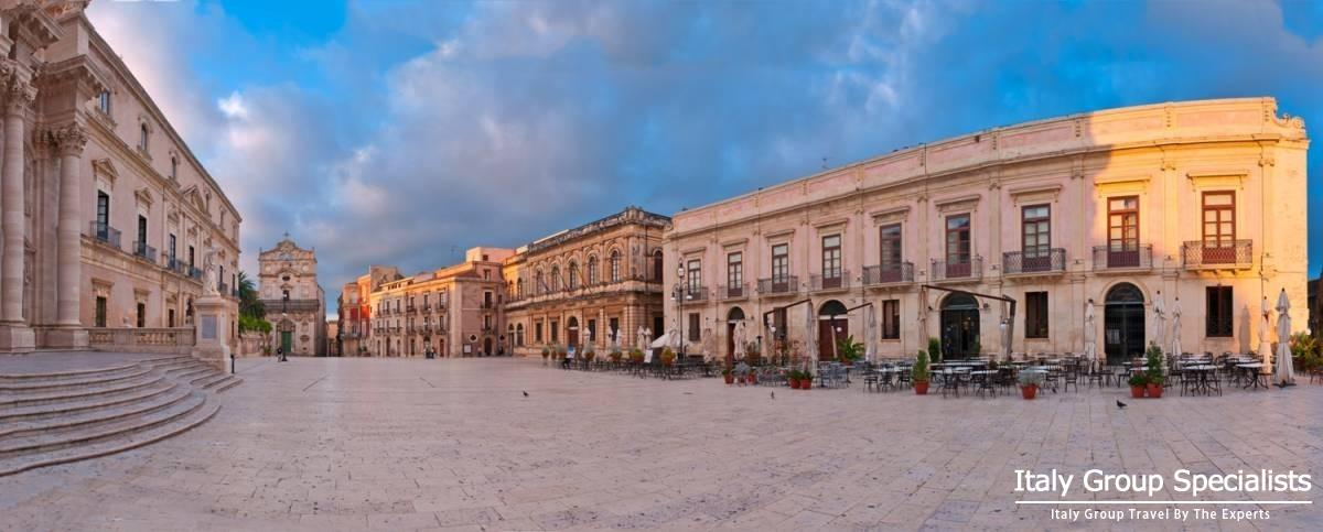 Central Piazza of Siracusa, Sicily