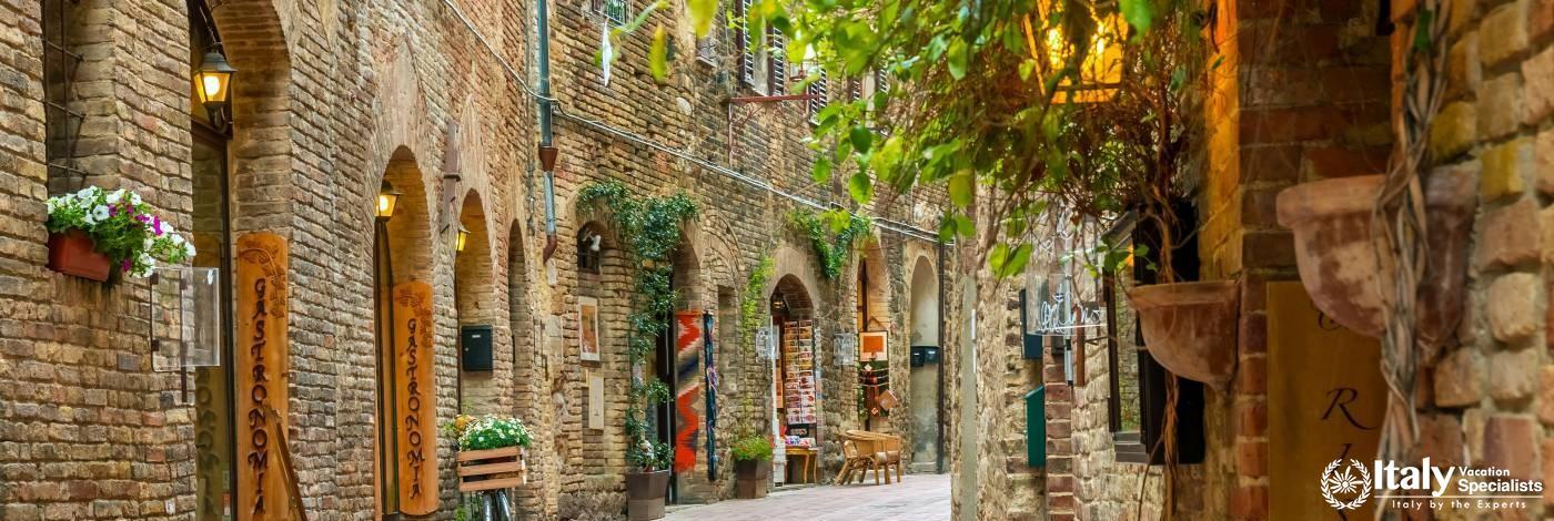 Streets of San Gimignano, Tuscany