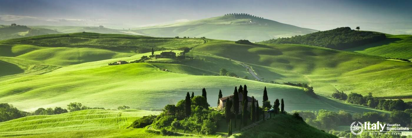 Orcia Valley from Pienza in Tuscany with Italy Vacation Specialists
