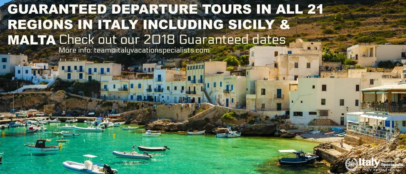 Guaranteed and Coach Tours in Italy