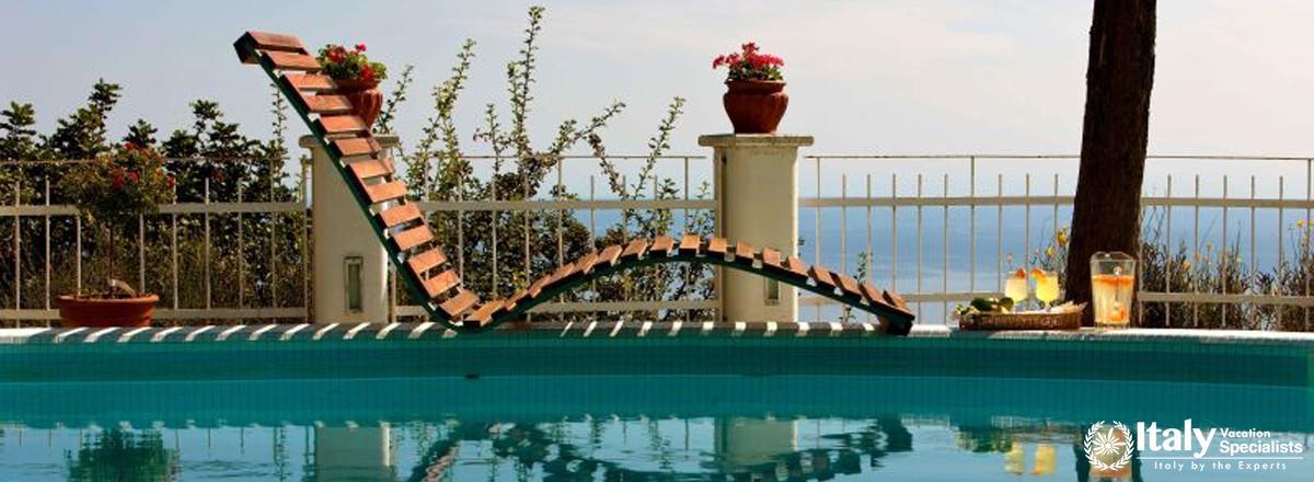 Furniture near swimming pool
