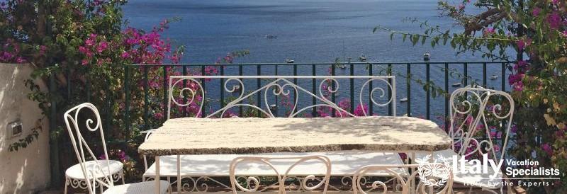 Sea-view from the terrace of Villa Vita Positano
