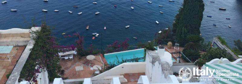Amazing view from Villa Vita Positano
