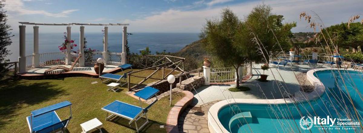 Swimming pool and exterior of Villa Mafalda