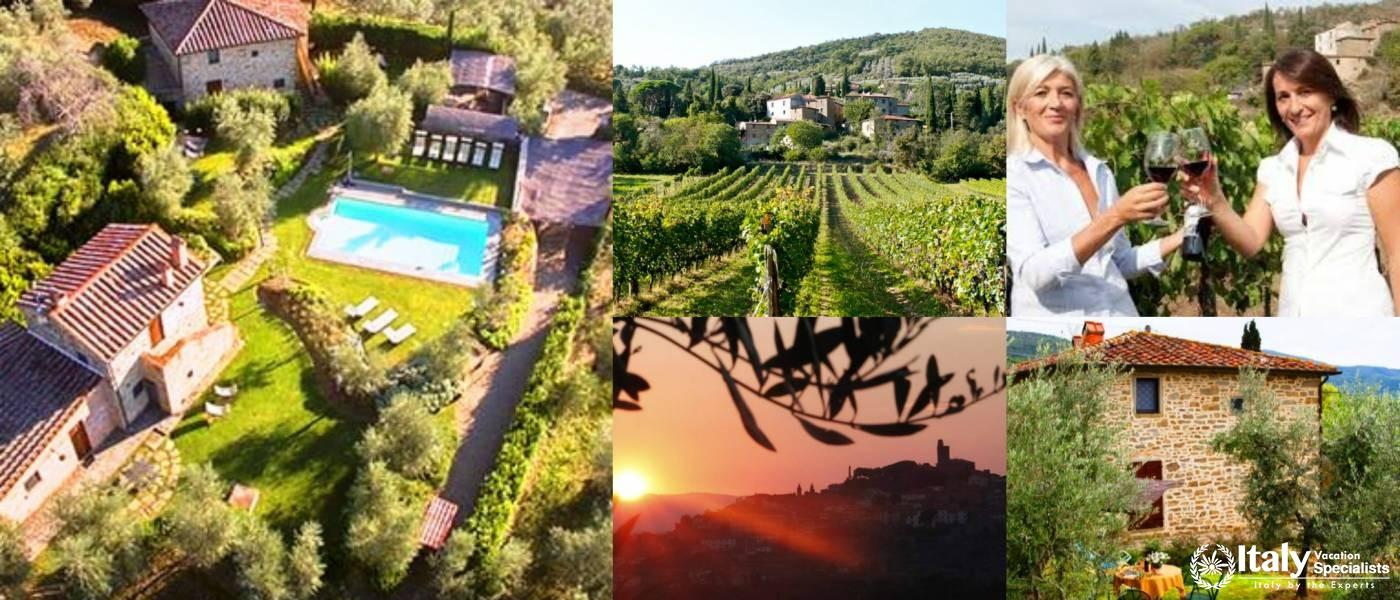 Villa for Groups in Tuscany on Wine estate