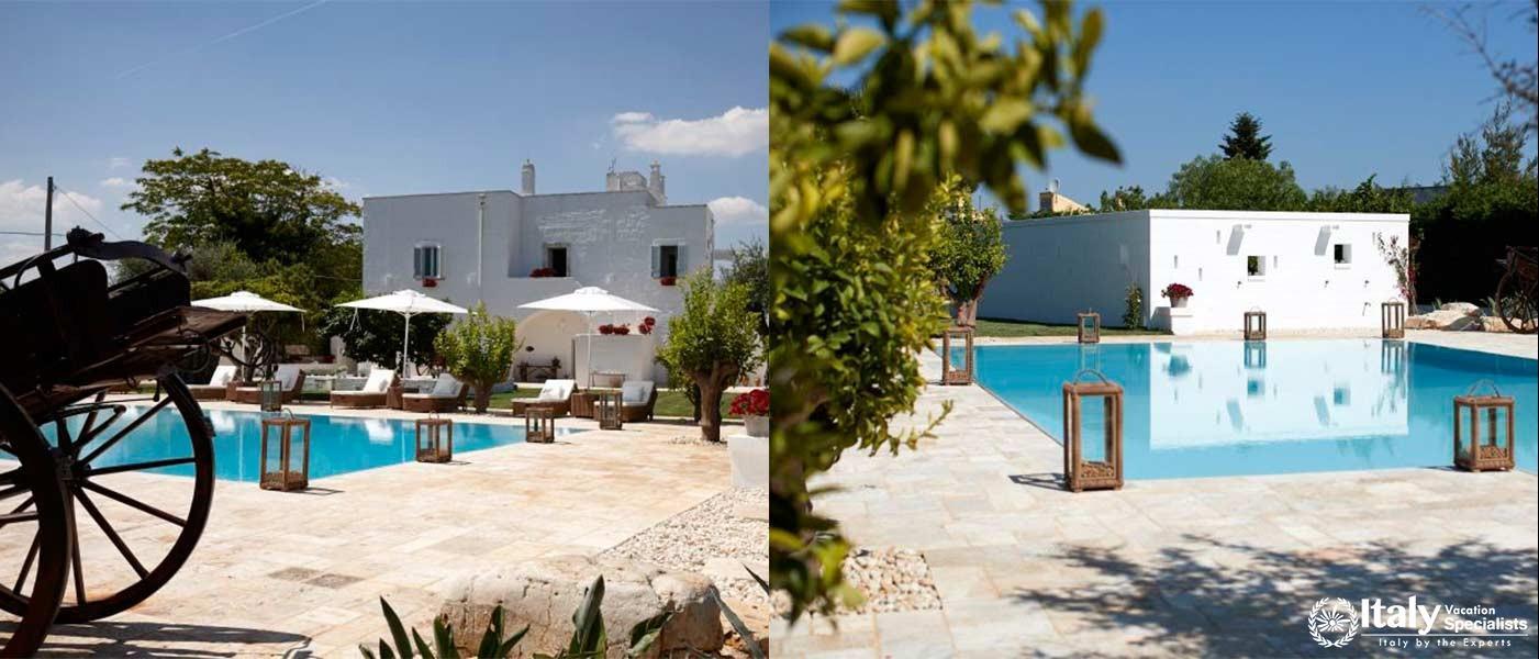 Amazing swimming pool in Villa Bianca