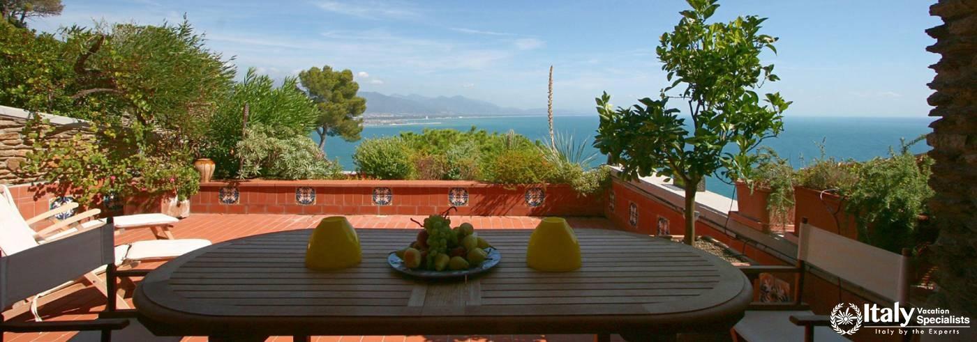 Terrace Villa Dei Pini Near Cinque Terre Italian Riviera with Pool