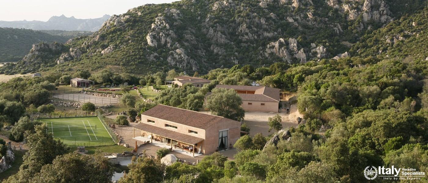 Aerial view of Villa Piera