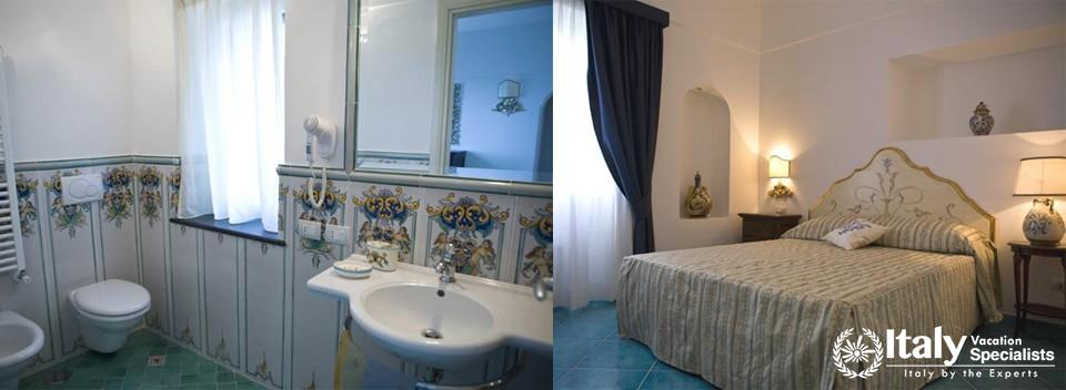 Bathroom and bedroom in Villa Karenessa