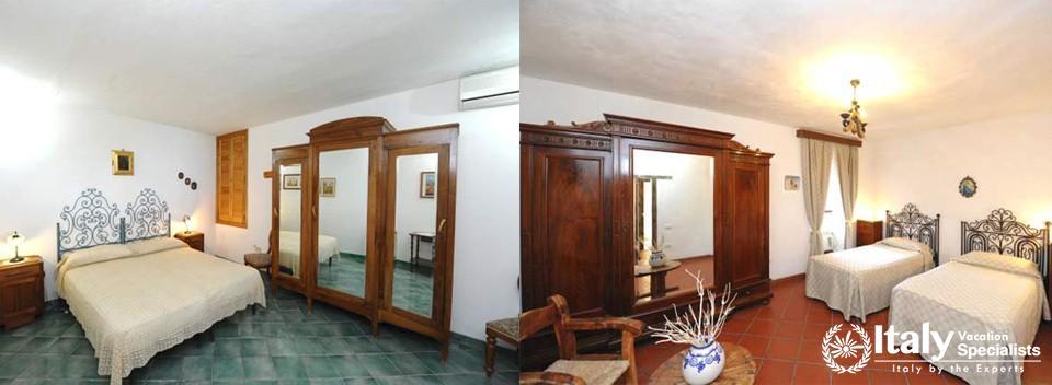 Bedrooms in Villa Tabac