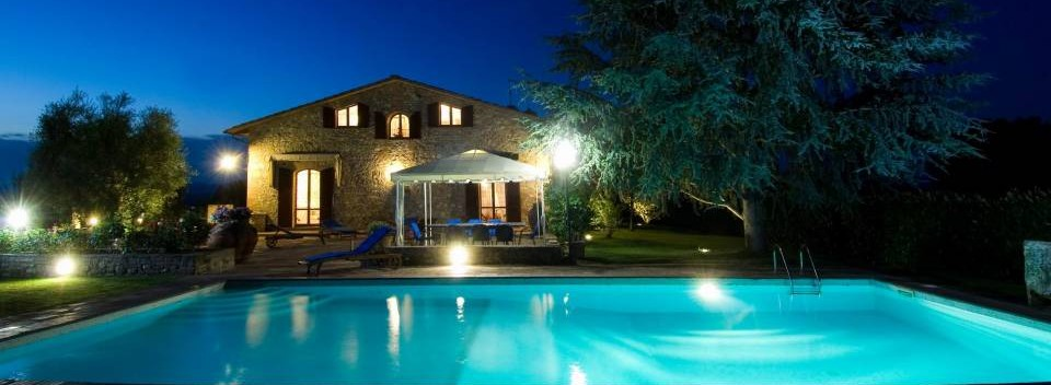 Tuscan Villa by night