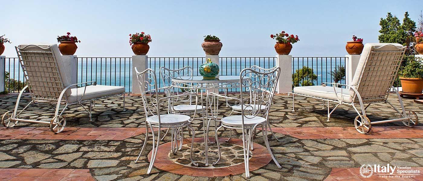 Outdoor furniture in Villa Bideri