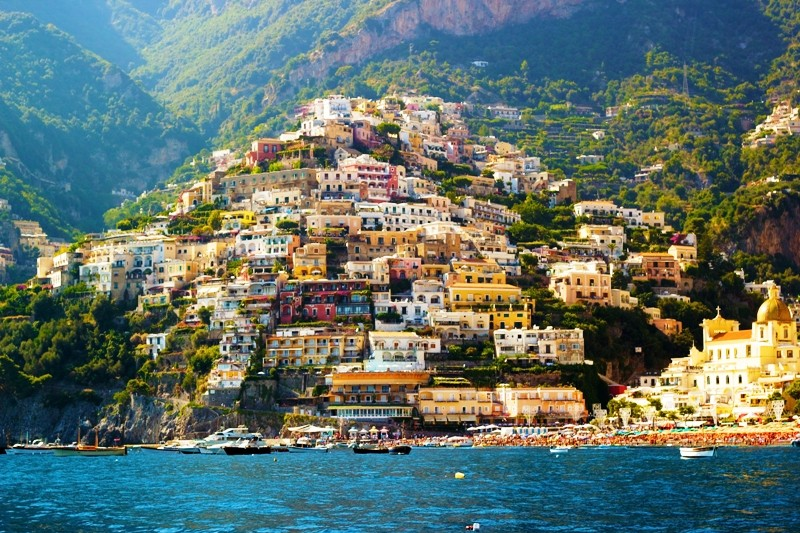 Positano from the seaside