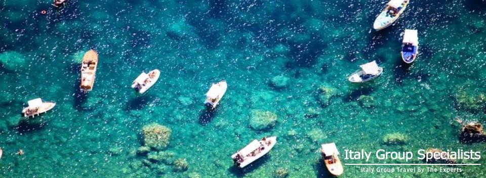 Boats along the Amalfi Coast