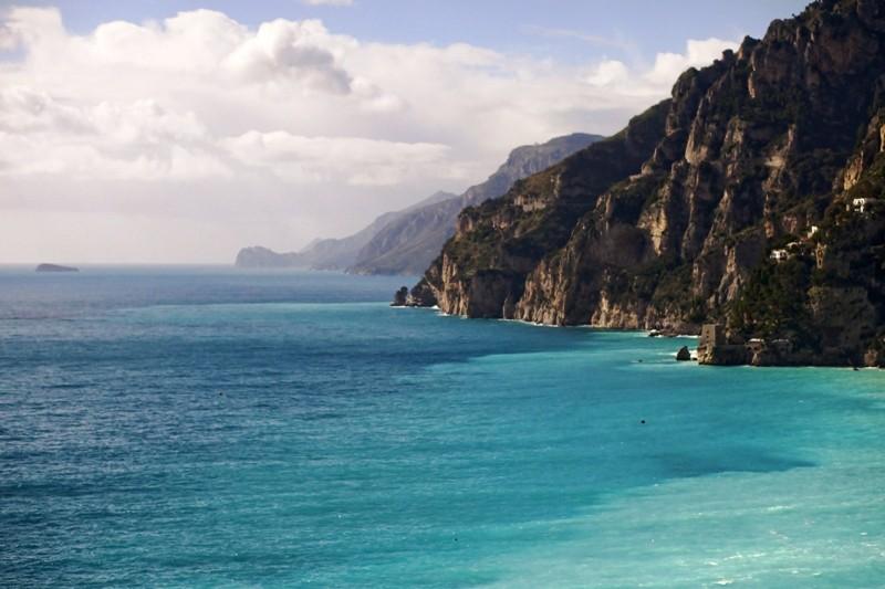Amalfi Coast Italy, Wintertime Scene