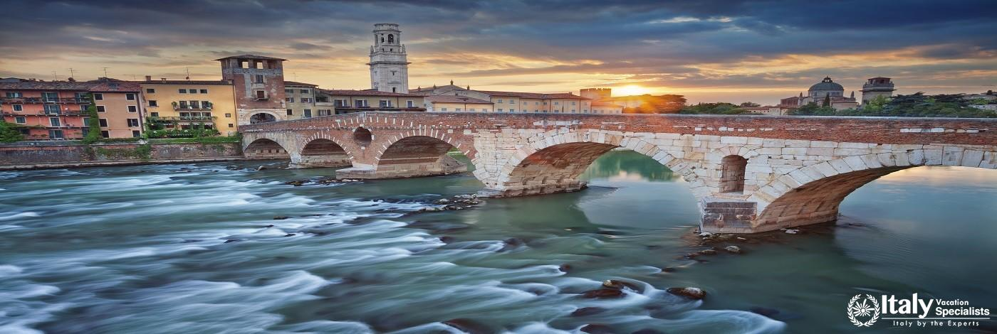 Verona, Italy During Summer Sunset