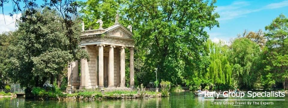 Villa Borghese Gardens, Rome Itay