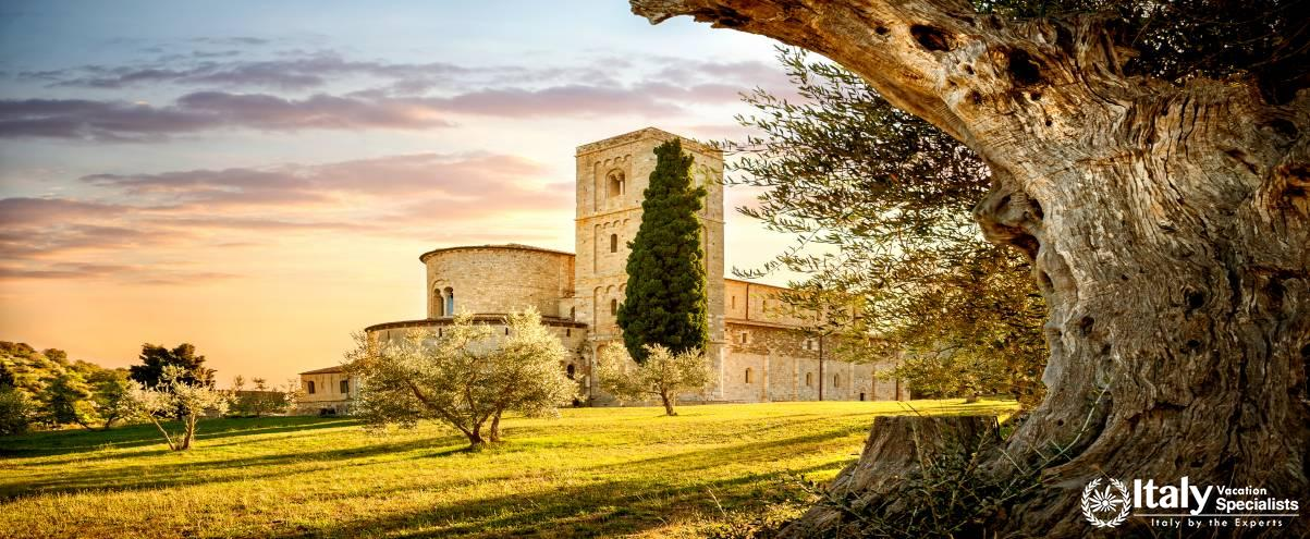 The Abbey of Sant'Antimo just outside Montalcino