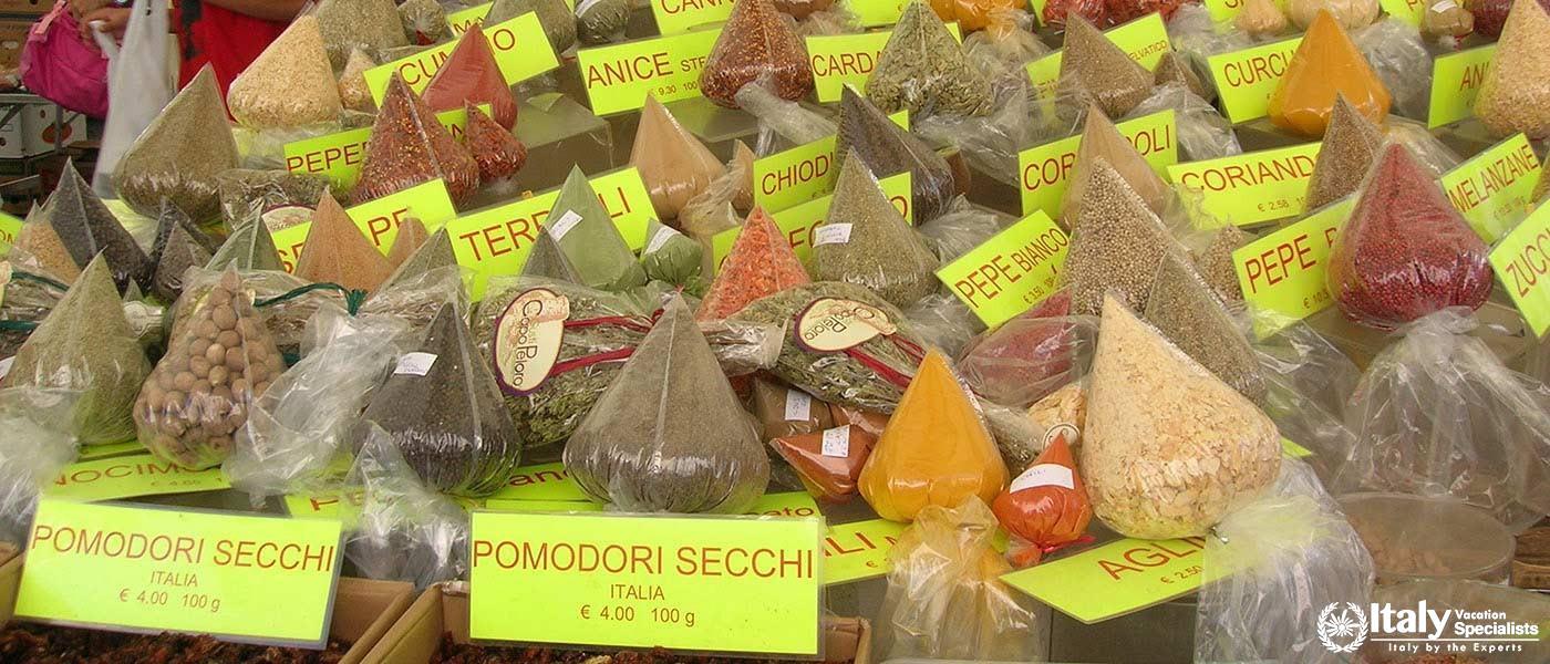Spezie in Campo dei fiori mercato