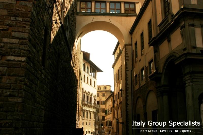 The Vasari Corridor from the Uffizi Gallery, Florenc, Italy - Photo by Jesse Andrews